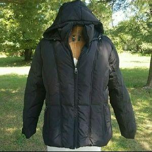Calvin Klein Womens Hooded Short Puffer Coat Sz 2X
